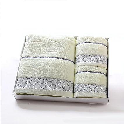 Toallas de baño Toalla de algodón de tres piezas toalla gruesa conjunto de toallas de regalo