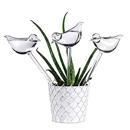 For Garden Plant Watering Device Indoor Automatic Cute Birds Snail Swan Glass
