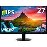 Acer モニター SA270Abmi 27インチ/IPS/非光沢/1920x1080/フルHD/16:9/250cd/4ms/ブラック/HDMI1.4/ミニD-Sub 15ピン