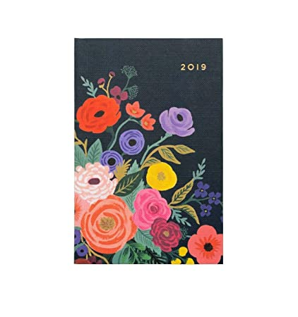 Rifle Paper Company 2019 Juliet Rose Pocket Size Agenda with Gold Accents