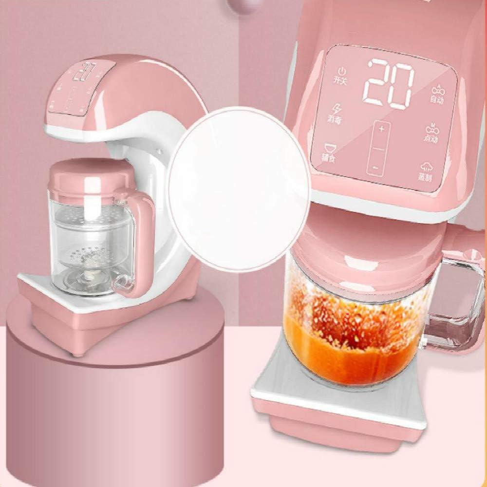 Máquina bebé multifunción cocinar alimentos para bebés alimentos se agitó durante automática integralmente multifunción molienda gachas herramienta,modelos de pantalla táctil de color rosa: Amazon.es: Bebé