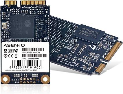 ASENNO SSD Solid State Drive SATA Mini PCIe 480GB 512GB M3 Serie ...
