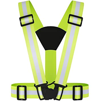 4 Arm Bands for Running,walking 2X Reflective Strap Vest Running Gear Cycling