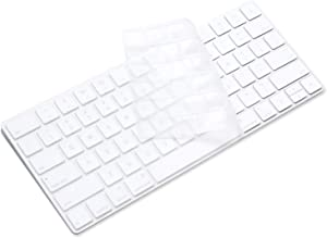 ProElife Ultra Thin Silicone Keyboard Protector Cover Skin for Apple iMac Magic Keyboard & Magic Keyboard 2 U.S Layout (MLA22L/A-A1644, 2015 2016 Released) (Without Numeric Keypad) (Transparent)