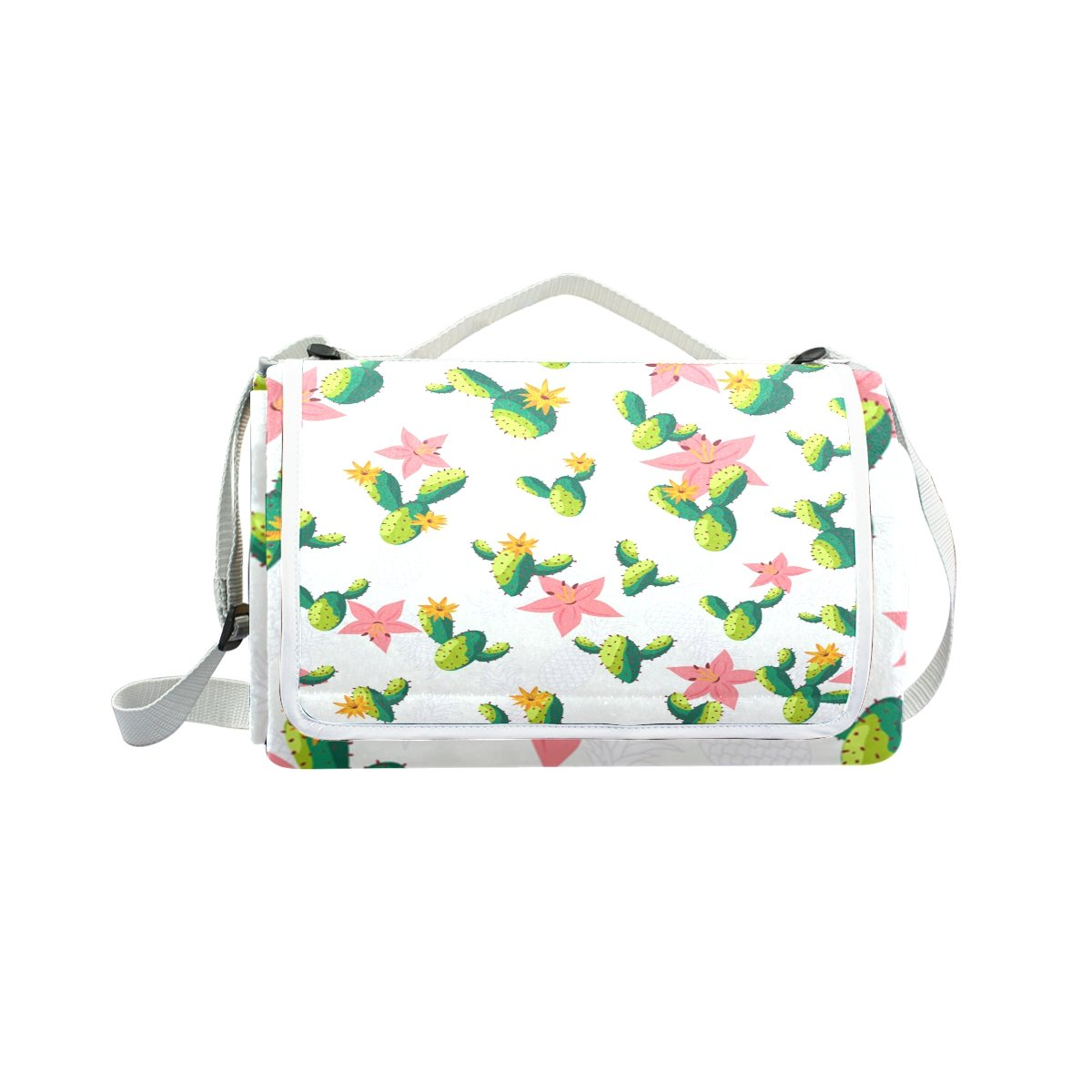 My Little Nest Outdoor Camping Picnic Beach Blanket Mat Cactus Lightweight Portable Folding Travel Pad 57'' x 59''