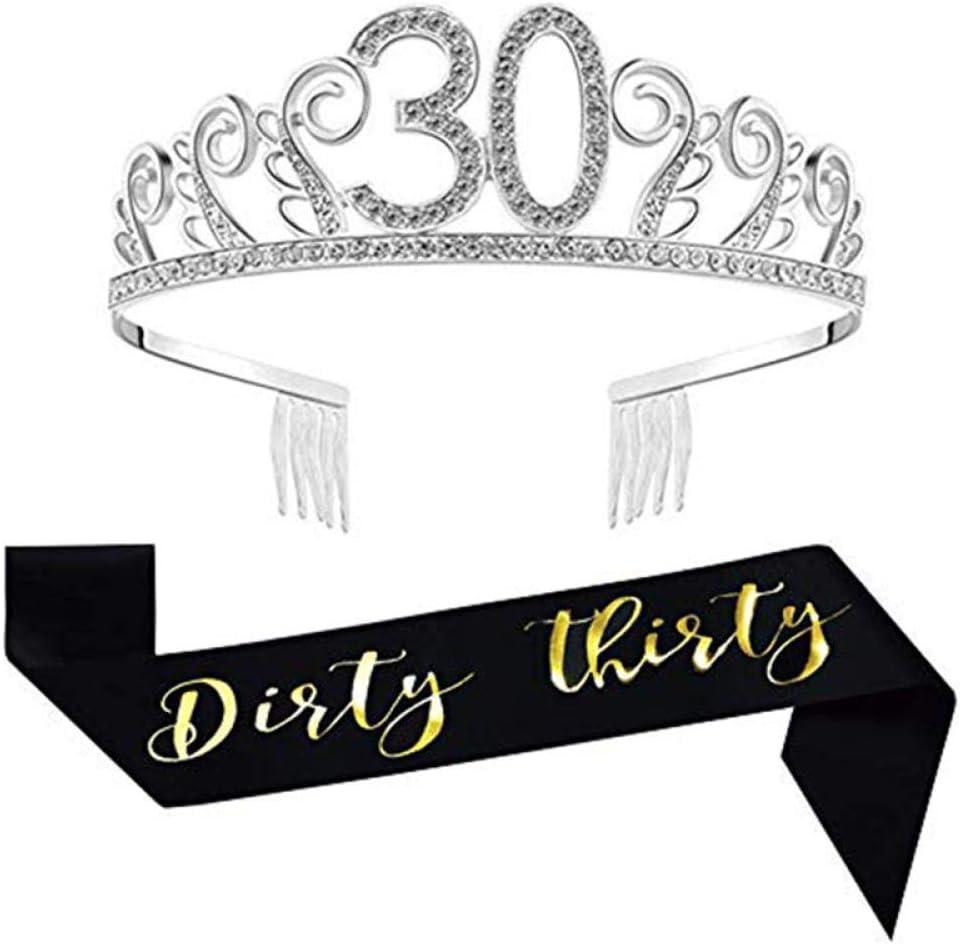 Feliz Cumpleaños Número 30 Y Diadema De Corona De Princesa