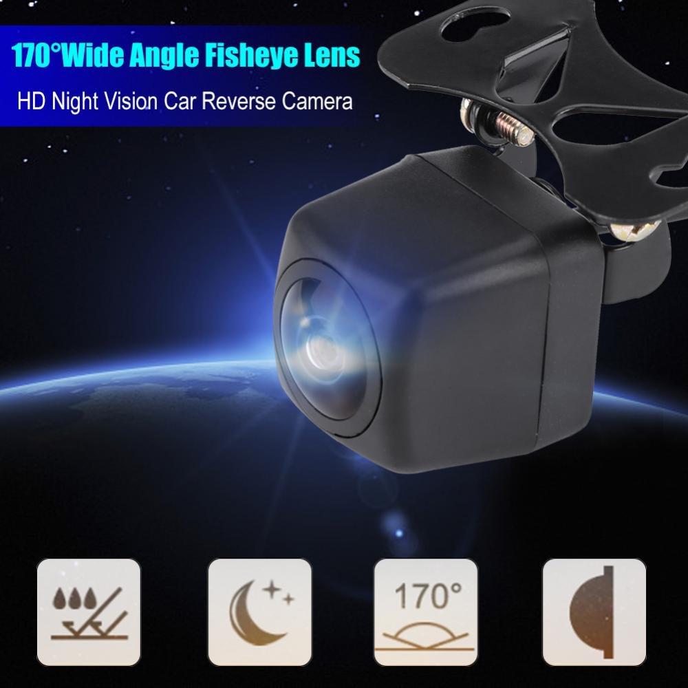 Hlyjoon Backup Camera 170 Degrees Wide Angle Car Vehicle Reverse Camera Waterproof Fisheyes Lens HD Night Vision Rear View Camera Universal