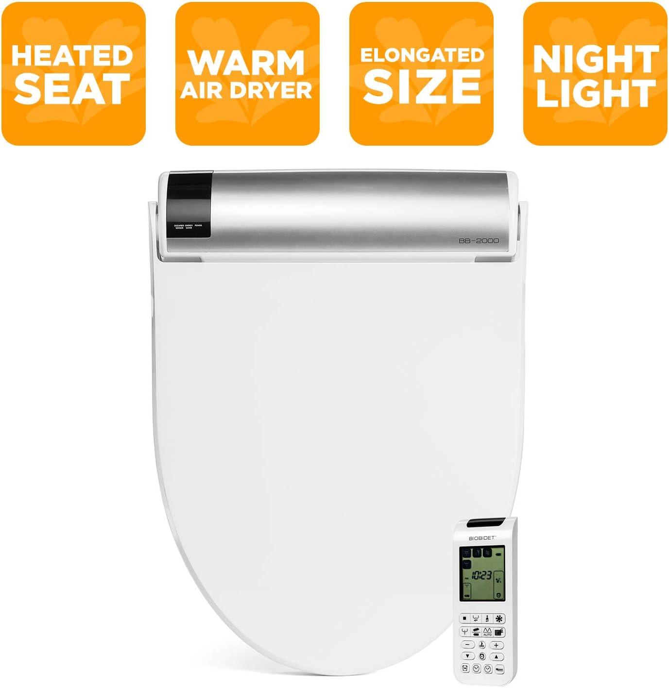 Bio Bidet Bliss Bb2000 Elongated White Smart Toilet Seat Premier Class Unlimited Warm Water Vortex Wash Amazon Com