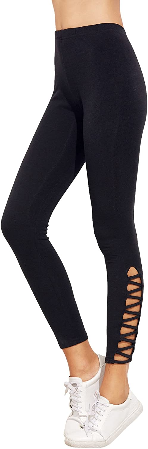 SweatyRocks Women's Cutout Leggings Skinny Yoga Pants Runing Jogger Active Tight