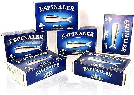 PACK DE 6 CONSERVAS DE SARDINILLA 16-20 ESPINALER RR-125 x6 latas