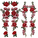 #7: OPount 12 Pieces 6 Pairs Embroidered Patches Various DIY Cloth Art Embroidery Decoration