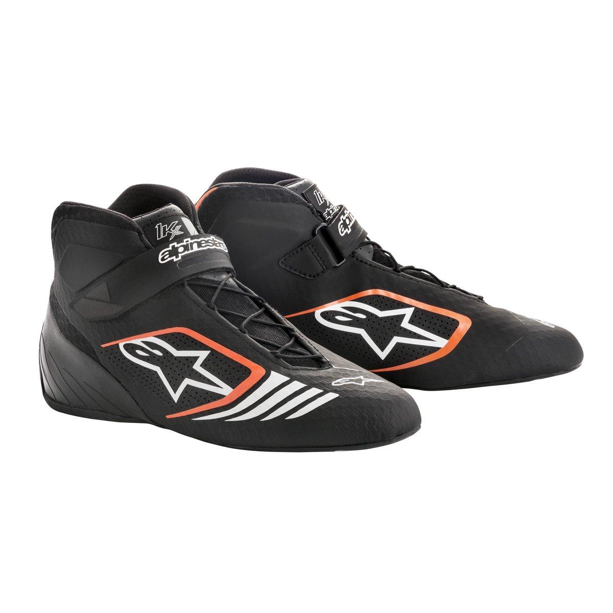 Alpinestars 2712118-156-12 Tech 1-KX Shoes, Black/Orange Fluorescent, Size 12