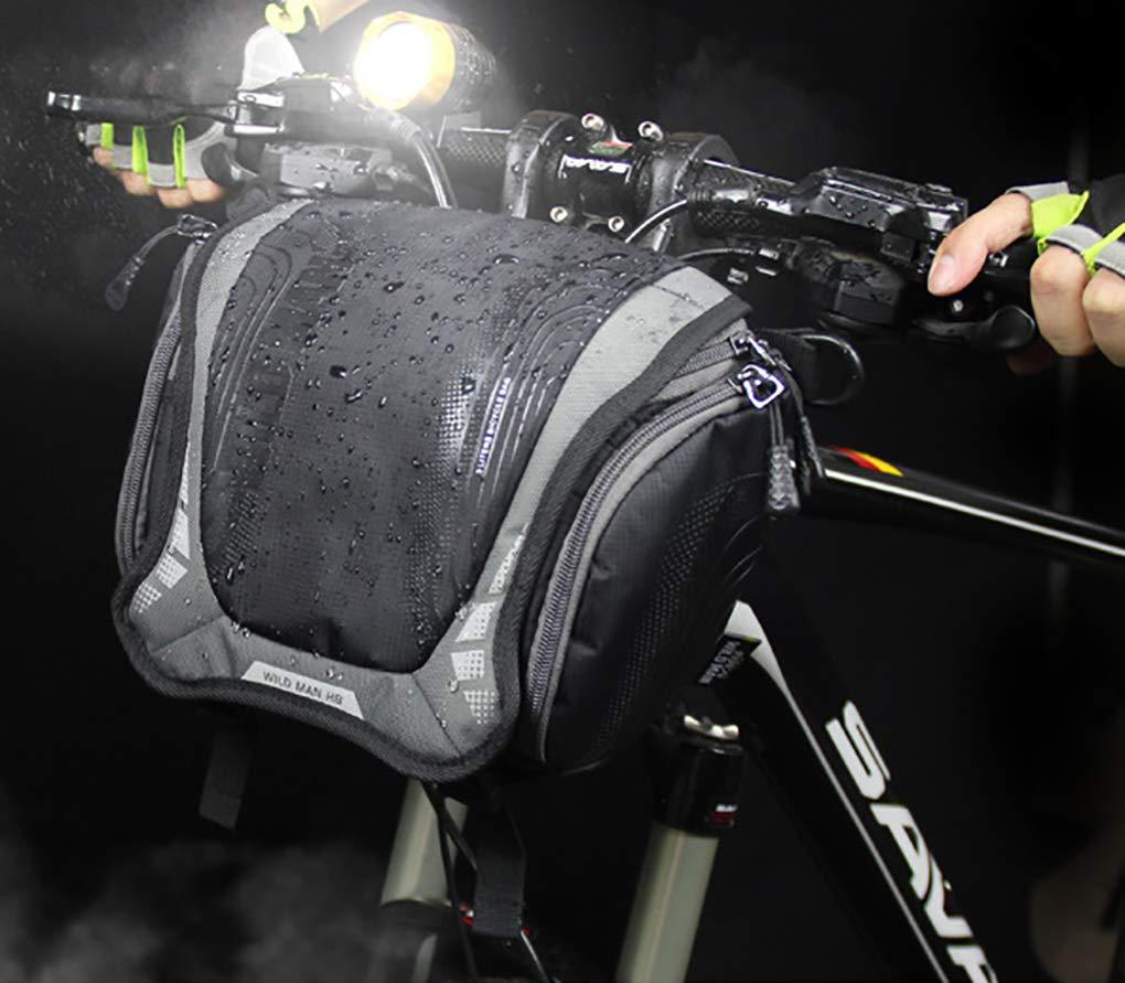 Black Bicycle Bag, Waterproof MultiFunction Bicycle Handlebar Bag Shoulder Bag, Mountain Front car First Bag, SLR Camera Bag Riding Equipment