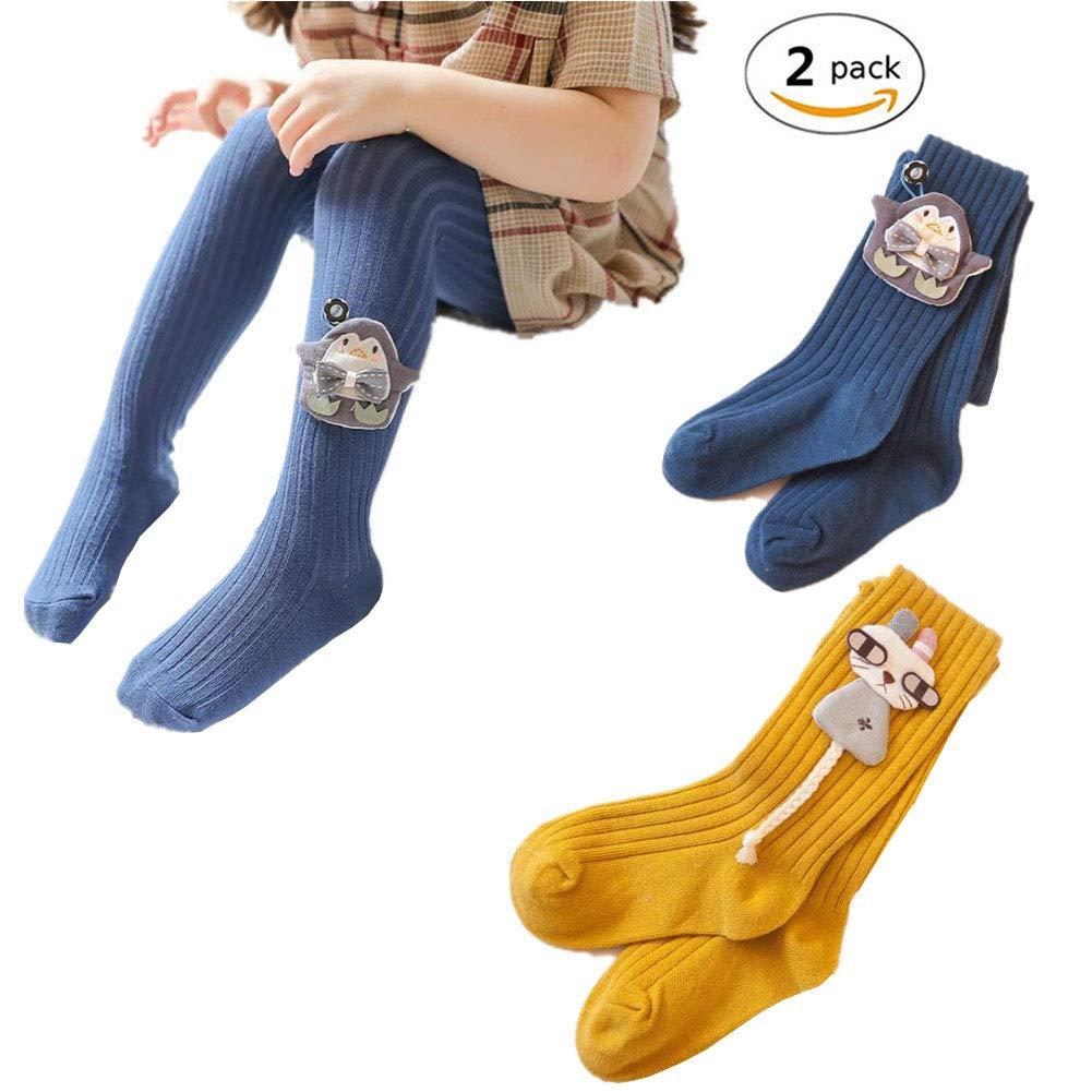 2 Pack Baby Girls Winter Warm Legging Pants Toddler Tights Stockings Pantyhose