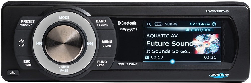 Aquatic AV AQ-MP-5UBT-HS Factory Harley Davidson Replacement AM/FM Radio Satellite Radio Ready