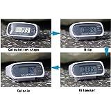 MMRM Podomètre Marche - Énergie Solaire Affichage LCD Calorie Distance Compteur Fitness Tracker