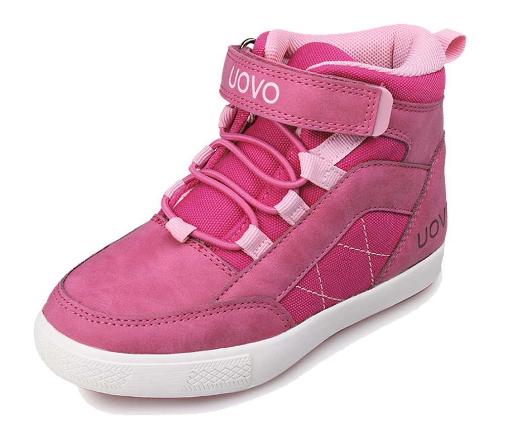 iDuoDuo Boys Girls Athletic Ankle Boot Trainers Warm Hiking Boots Pink 12 M US Little Kid