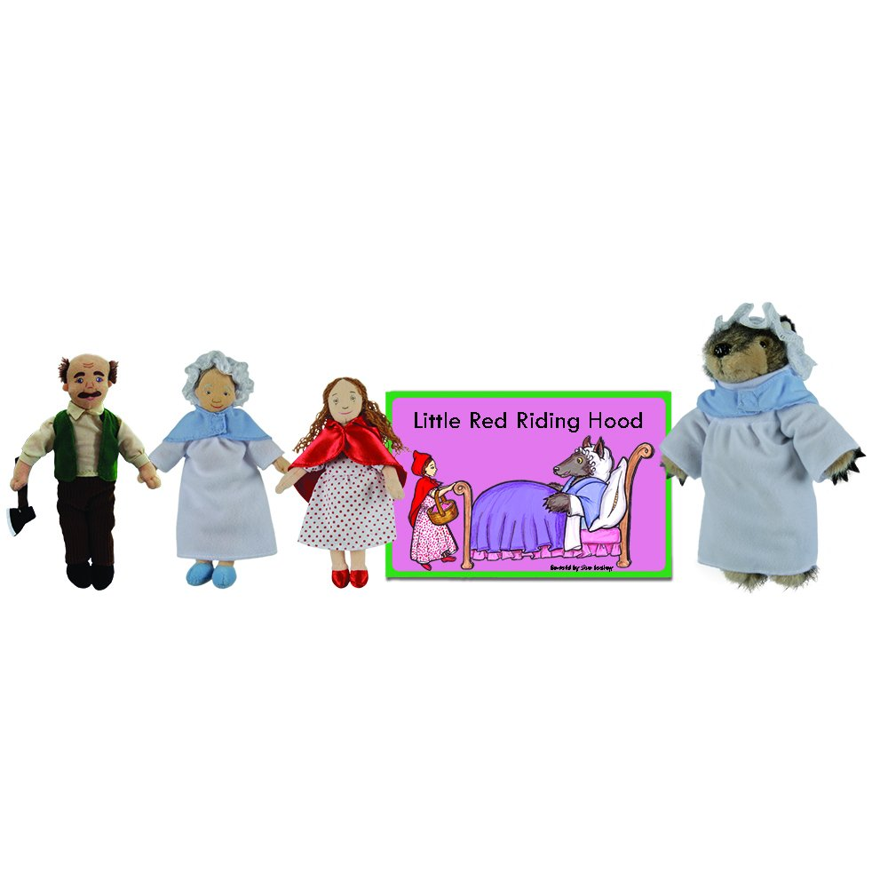 The Puppet Company - Traditional Story Sets - Little Red Riding Hood Finger Puppet Set The Puppet Company Ltd PC007904