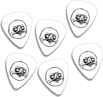 Me Gusta Meme 6 X Logo Guitarra Picks (GD): Amazon.es ...