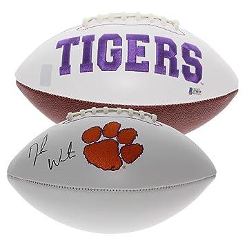 Deshaun Watson Autographed Signed Clemson Tigers White Panel Football - Beckett  Authentic 92c730097