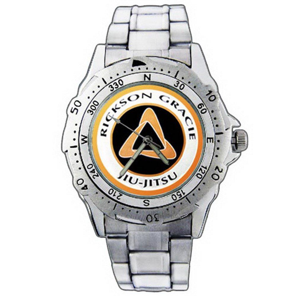 PE343 Rickson Gracie Jiu-Jitsu Stainless Steel Wrist Watch