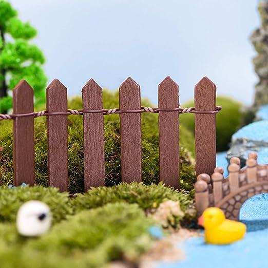 Marlon Nancy - Mini barrera de madera para jardín de hadas en miniatura: Amazon.es: Hogar