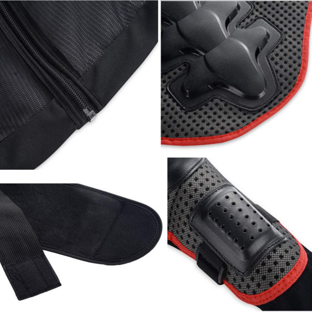 Red/&Black, L Motorcycle Jacket Armor Chest Spine Protector Dirtbike ATV Off Road Guard Shirt
