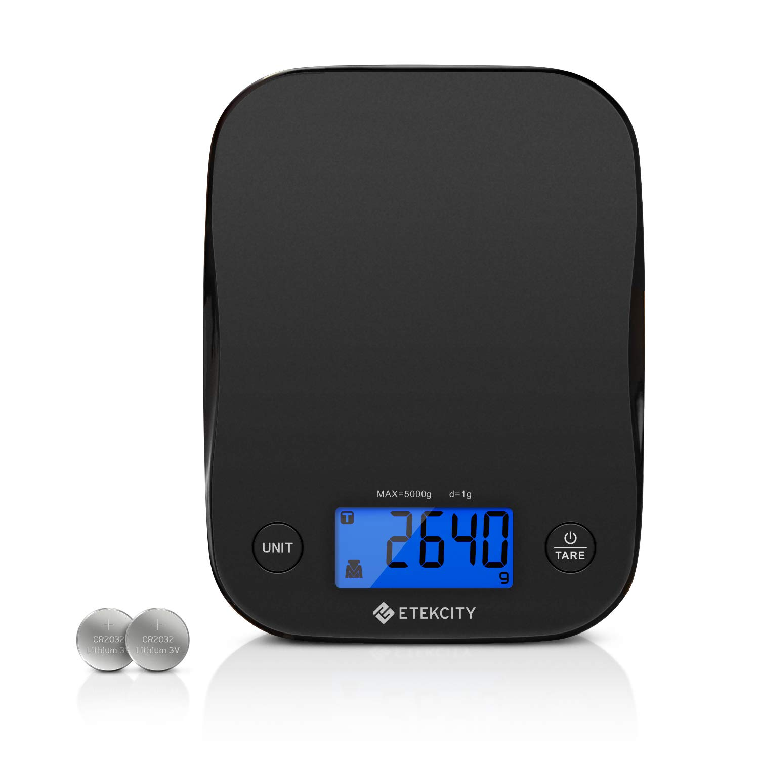 Etekcity Food Scale Digital Kitchen Weight for Cooking and Baking, 1 Gram, Black