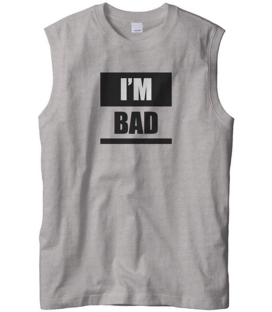 Cybertela Mens Im Bad Badass Boy Girl Sleeveless T-Shirt