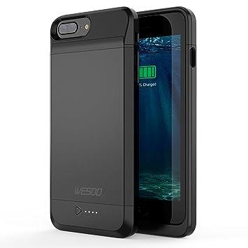 Wesoo Funda Batería para iPhone 7 Plus (5.5 inch) 4600 mAh Cargador Portátil Batería Externa Recargable con Apple MFi Certified --Negro