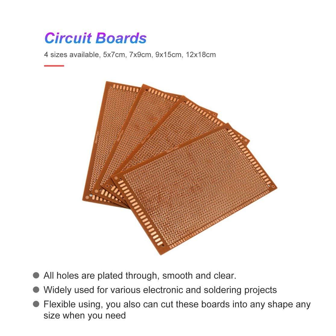 Pack Papier de Prototype Imprim/é Panneau de Carte PCB Panneau Simple Planche /À Pain Universelle C/ôt/é pour DIY Soudure LouiseEvel215 10PCS