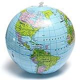 QOJA 38cm pvc inflatable earth globe home decor geographical education