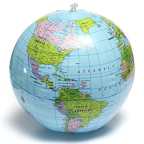 Bureze 38cm PVC Gonflable Earth Globe Home Decor éducation Géographique Outil BG