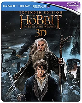 Amazon Com The Hobbit The Battle Of The Five Armies Extended Edition Steelbook Blu Ray 2014 Region Free Richard Armitage Martin Freeman Peter Jackson Movies Tv
