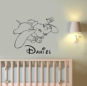 Amazoncom Personalized Name Dumbo Vinyl Wall Decal Custom - Custom vinyl wall decals disney