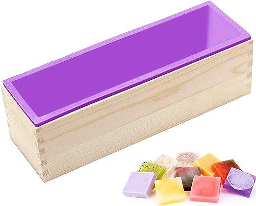 molde de jabón de silicona,molde de jabón con caja de ...