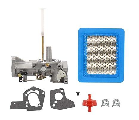 MOTOKU Carburetor Air Filter Fuel Clamp Carb For Briggs Stratton 498298 692784 495951 492611 490533 495426 5 HP Engine Troy Bilt Rototiller Generac