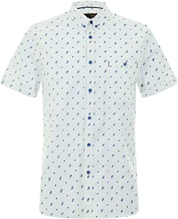 Merc of London Welor, S/S Geo Paisley Shrt Camisa para Hombre: Amazon.es: Ropa y accesorios