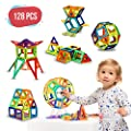 Magnetic Building Blocks - 128 pcs Large Set - Educational Toys for Boys and Girls - Great for 3+ Years Old Toddlers and Kids - Tiles with Innovative Build Magnets - Great Gift for Children!