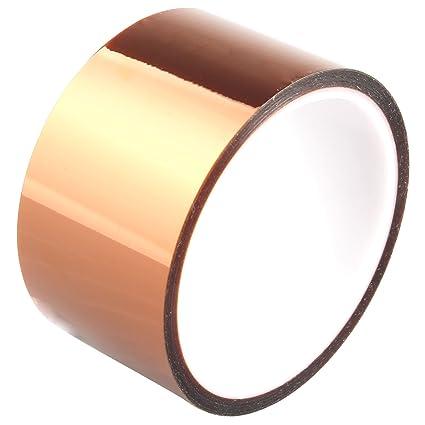 haljia 50 mm * 30 m alta temperatura de calor de poliimida resistente adhesivo dorado cinta