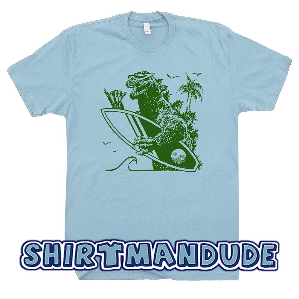 f5deceda Amazon.com: Surfing Godzilla T Shirt Funny Vintage Surf Tee Cool 80s Retro  Surfboard Graphic for Men Women Teen Kids: Clothing