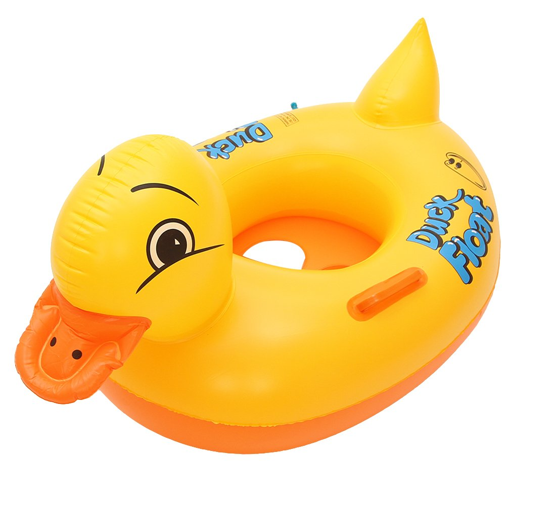 Lukis Baby Kleinkind Schwimmtrainer Aufblasbarer Schwimmring Gelbe Ente Babypool Sitzring Außendurchmesser 88cm (Gelb)