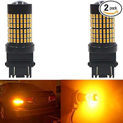 3157-Yellow YITAMOTOR 9-30v 3157 3156 4157 LED Bulb Amber for Turn Signal Light 36-SMD Extremely Bright 3157a 3157na 3057 LED Bulb Yellow for Car Truck Motorcycle 2-Pack