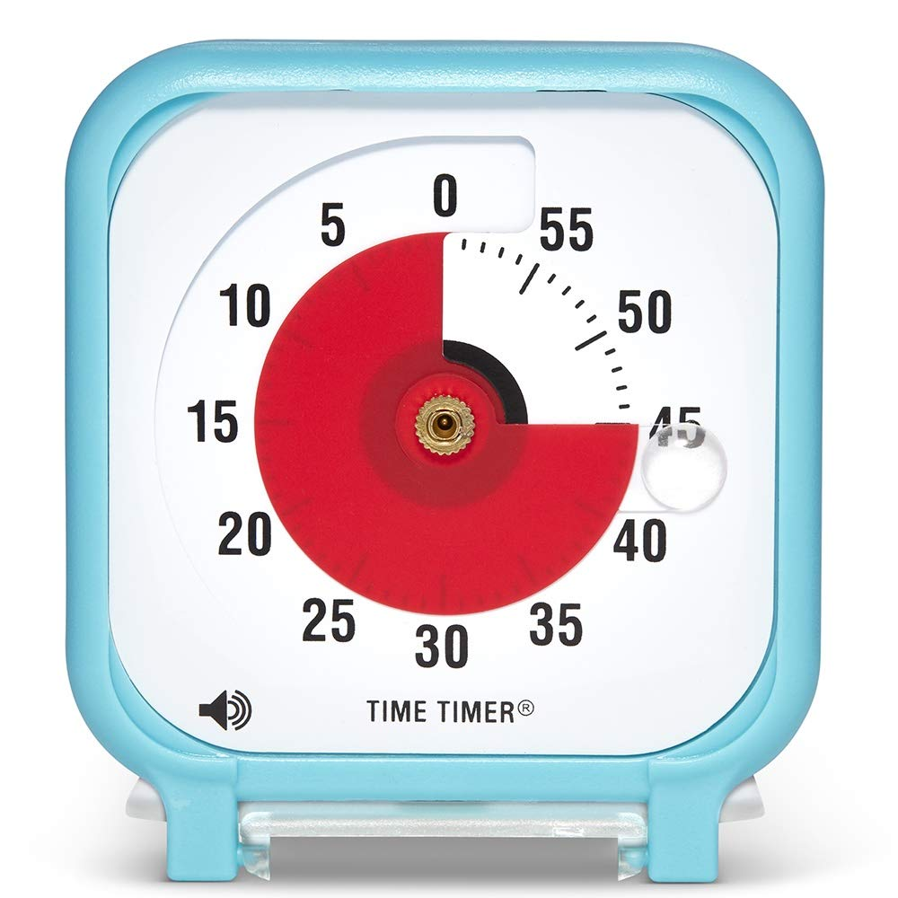Time Timer Original 3 inch; 60 Minute Visual Timer - Classroom Or Meeting Countdown Clock for Kids and Adults (Sky Blue) by Time Timer