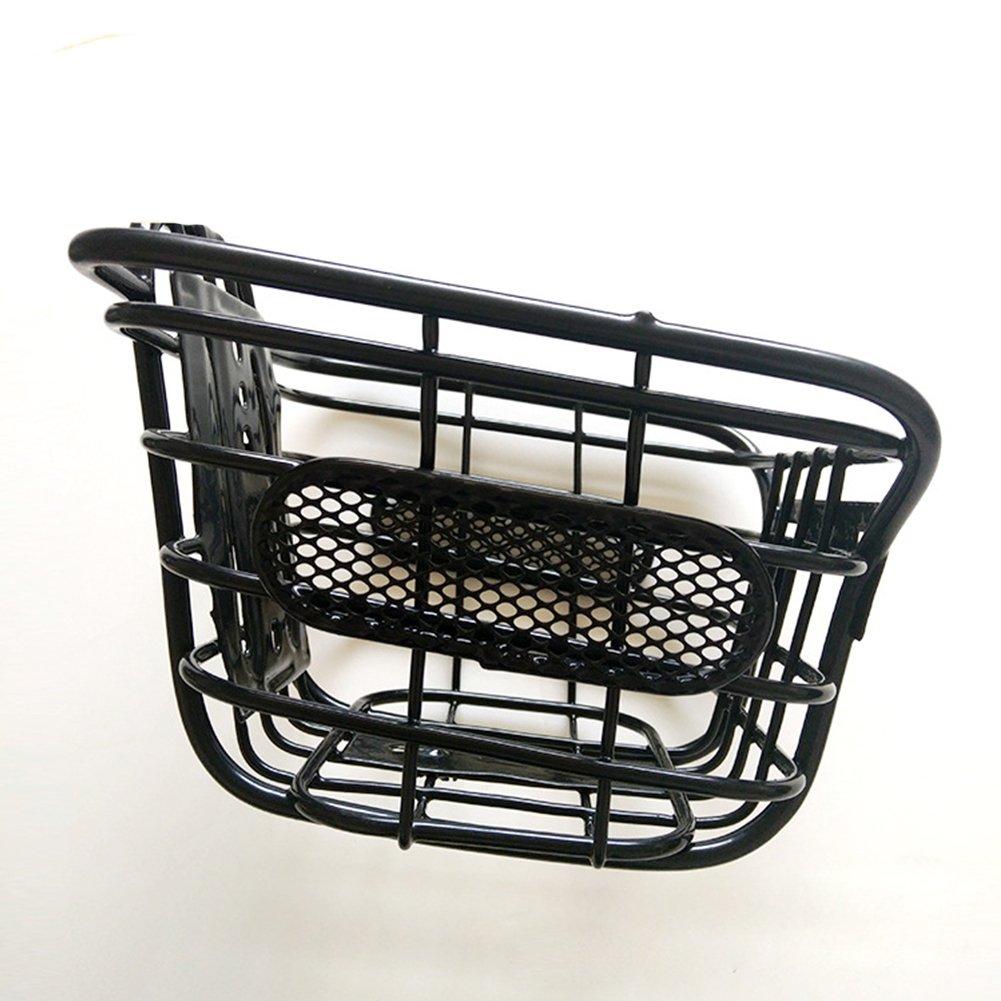 XuBa Children Cuboid Steel Wire Front Black Basket Bike Accessories Kids Bicycle Mountain Bike