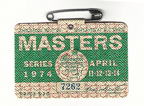 1974 Masters Augusta National Golf Club Badge Ticket Gary Player Wins PGA