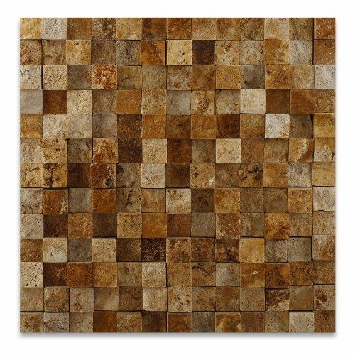 gold-yellow-travertine-1-x-1-hi-low-split-faced-mosaic-tile-6-x-6-sample