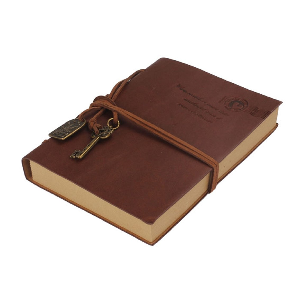 Willtoo(TM) 160 Pages Vintage Bound Notebook Leather Journal Diary (Coffee)