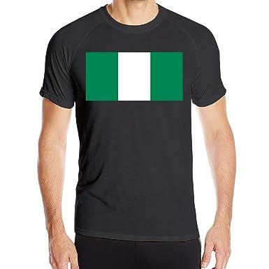 Bandera nigeriana Camisetas de Manga Corta para Hombre Tops de ...