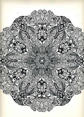 Psychedelic Mandalas XX Saladin Lithograph 1967